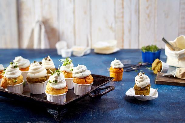 Mini-Polenta-Cupcakes in drei Sorten Rezept