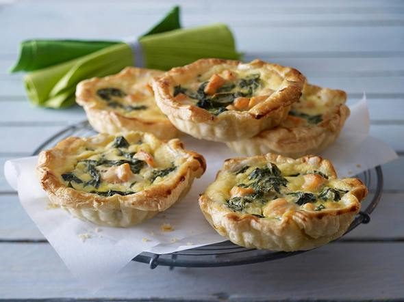 Mini-Spinat-Lachs-Quiche Rezept