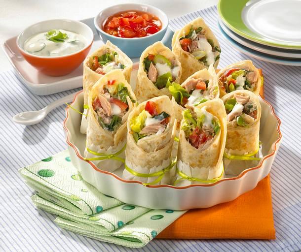Mini-Wraps mit Thunfischfüllung Rezept