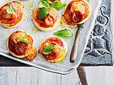 Minipizzas mit Salami Rezept