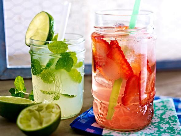 Minz-Limetten-Limo & Strawberry Royal Rezept