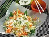 Möhren-Kohl-Salat mit Sprossen Rezept