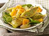 Möhren-Maultaschen-Salat mit Thymian-Vinaigrette Rezept