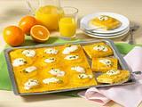 Möhren-Orangen-Kuchen vom Blech Rezept