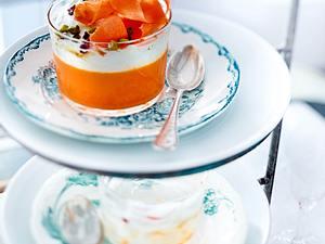 Möhren-Panna-Cotta mit Joghurtcreme Rezept