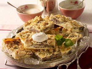 Mohn-Käsekuchen mit Streuseln vom Blech Rezept