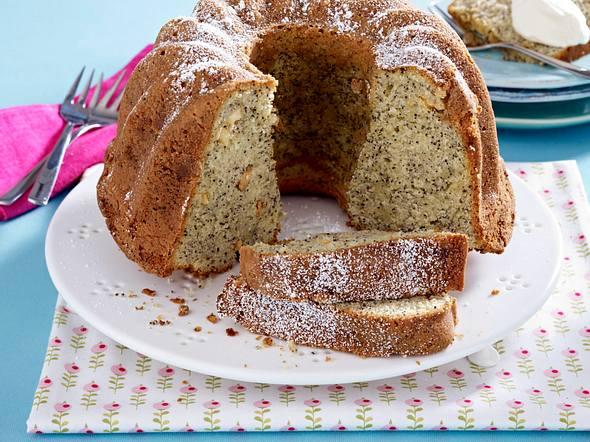 Mohn-Kuchen mit weißer Schokolade Rezept