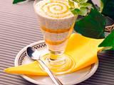 Mohn-Quark mit Pfirsichpüree Rezept