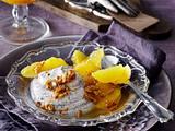 Mohncreme mit karamellisierten Sonnenblumenkernen und Orangenfilets Rezept