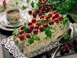 Mohnkuchen mit Kirschsahne Rezept