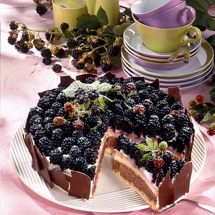 mousse au chocolat torte mit brombeeren rezept lecker. Black Bedroom Furniture Sets. Home Design Ideas