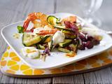 Mozzarella-Zucchini-Antipasti mit Garnelen Rezept