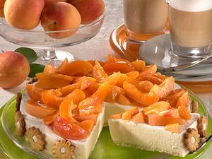 Mürbeteigkuchen mit Joghurt-Aprikosencreme Rezept