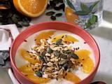 Müsli-Joghurt mit Orange Rezept