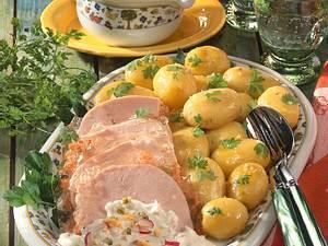 Neue Kartoffeln, Remoulade & Sülze Rezept