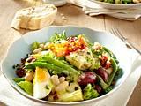 Nizza-Salat mit Kartoffel-Senf-Speck-Vinaigrette Rezept