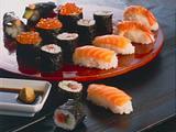 Nori-Maki-Sushi (Sushiröllchen mit Seetang) Rezept
