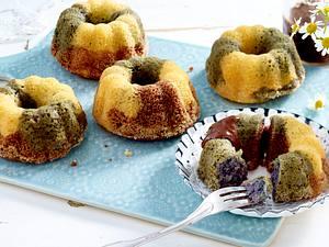 Nougat-Heidelbeer-Marmorkuchen Rezept
