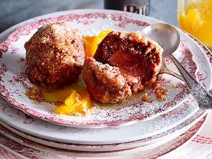 Nougat-Honigkuchen-Knödel mit Orangensoße Rezept-F8652502