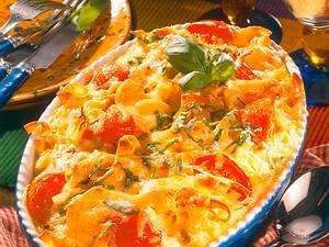 Nudel-Auflauf mit Tomaten Rezept