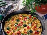 Nudel-Gemüse-Omelette Rezept