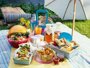 Nudel-Melonensalat (Picknick) Rezept