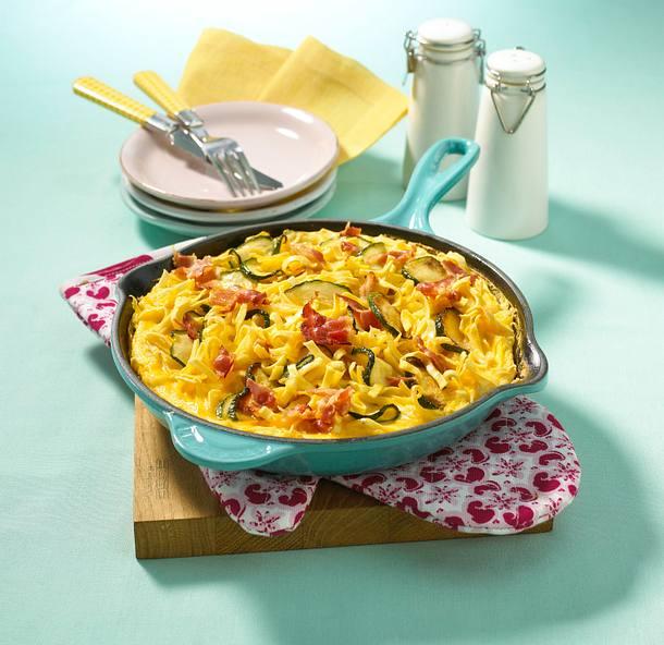 Nudel-Zucchini-Omelett Rezept