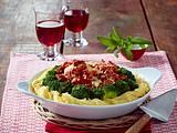 Nudelauflauf mit Bolognese und Brokkoli Rezept
