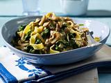 Nudeln in Spinat-Pilz-Soße Rezept