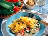 Nudeln mit feiner Zucchini-Senf-Soße Rezept