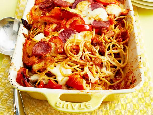 Nudeln mit Tomaten-Paprika-Pesto Rezept