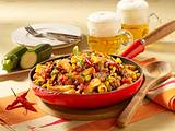 Nudelpfanne Chili con Carne Rezept