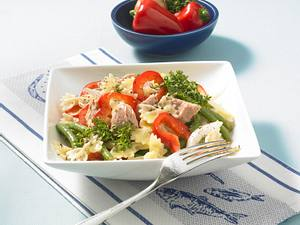 Nudelsalat mit Thunfisch und Kresse Rezept