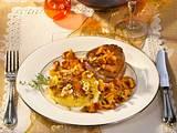 Nuss-Kartoffelgratin mit Filetsteak Rezept