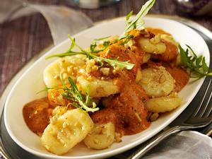 Nussgnocchi mit Trüffel-Pesto-Soße Rezept