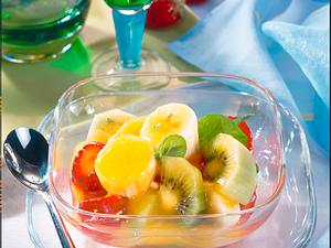 Obstsalat mit Mangosoße Rezept