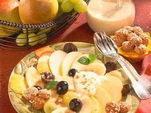 Obstteller mit Vanille-Jogurt Rezept