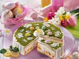 Österliche Zitronen-Joghurt-Torte Rezept