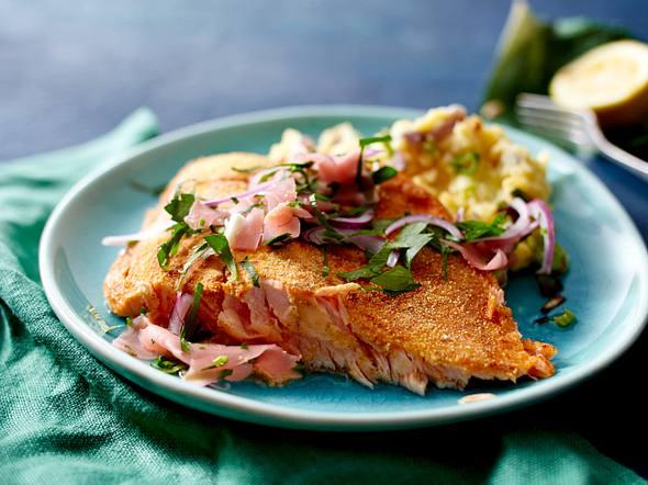 Ofen-Knusperlachs mit Sushi-Ingwer Rezept