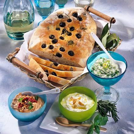 Oliven-Brot & Schafskäse-Crèmes Rezept
