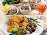 Olivenpasten zu Röstkartoffeln Rezept
