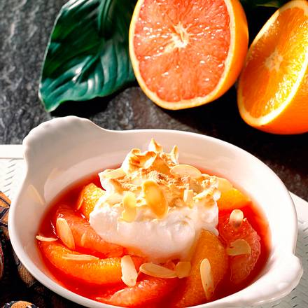 Orange und Grapefruit mit Baiserhaube (Diabetiker) Rezept