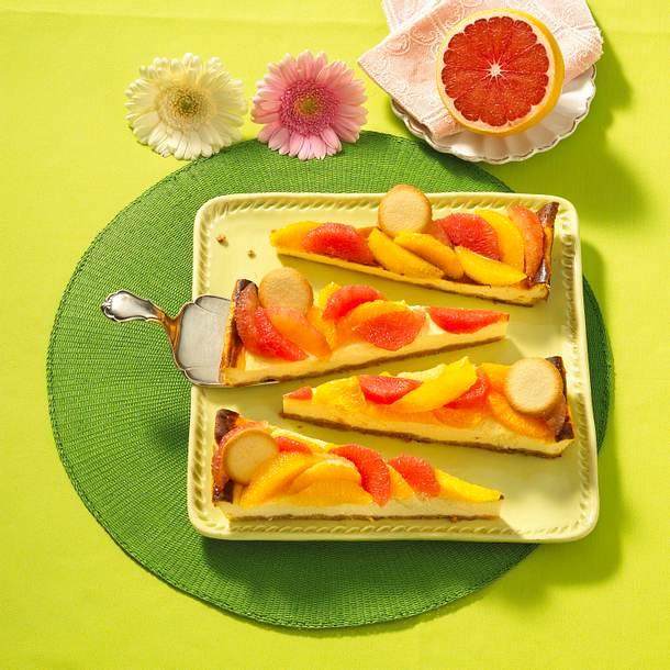 Orangen-Grapefruit-Käseblechkuchen Rezept