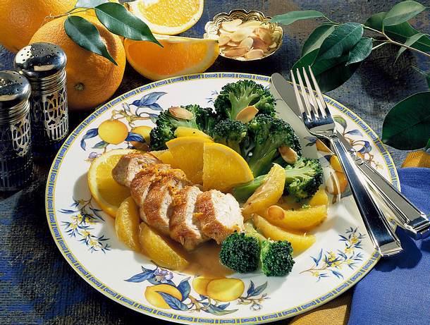 Orangen-Hähnchenfilet mit Broccoli Rezept