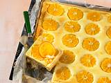 Orangen-Käse-Blechkuchen Rezept