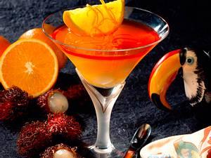 Orangen-Litchi-Gelee Rezept