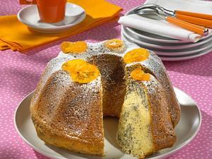 Orangen-Mohn Marmorkuchen Rezept