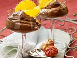 Orangen-Mousse au Chocolat mit Karamelsoße Rezept
