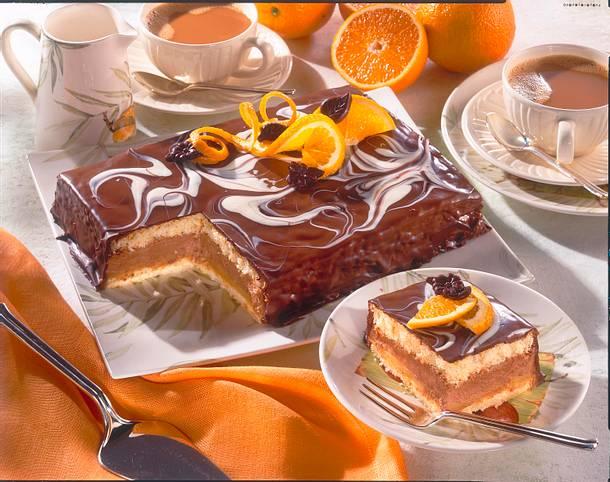 orangen nougat kuchen rezept lecker. Black Bedroom Furniture Sets. Home Design Ideas