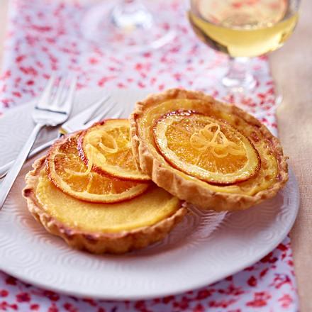 Orangen-Tarteletts Rezept